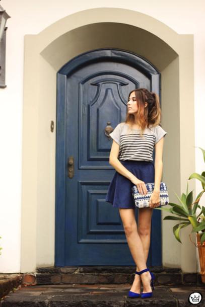 fashion coolture blogger skirt t-shirt bag shoes