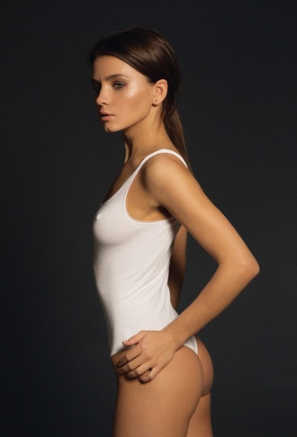 top bodysuit white thong swimsuit