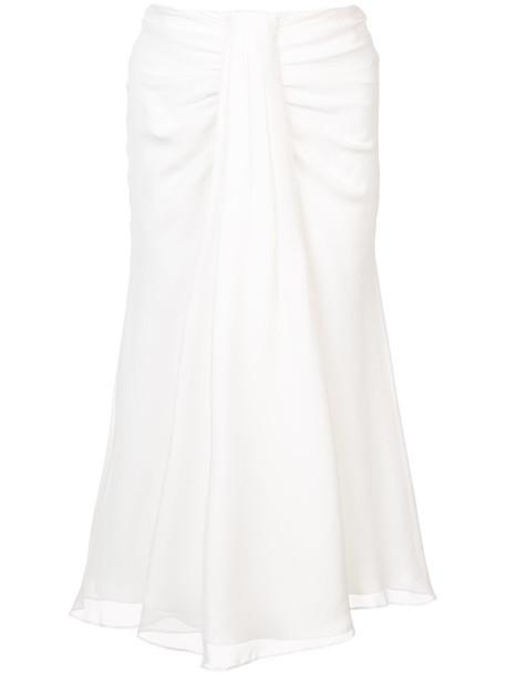 Prabal Gurung skirt women white silk