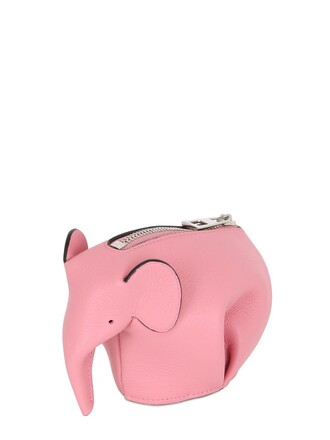 elephant purse leather pink bag