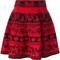 Alexander mcqueen floral jaquard skater skirt, women's, size: medium, red, polyamide/polyester/spandex/elastane/viscose