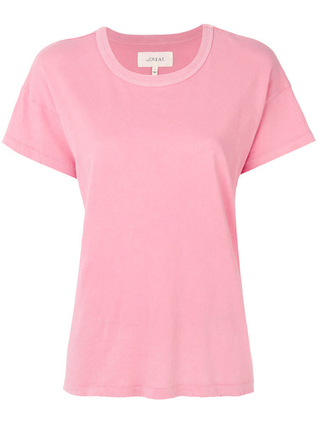 The Great t-shirt shirt t-shirt women classic cotton purple pink top