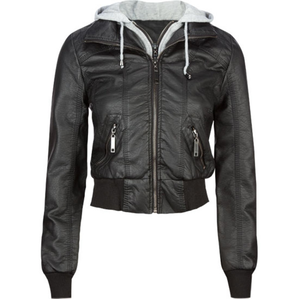 jacket faux leather black jacket cute winter outfits