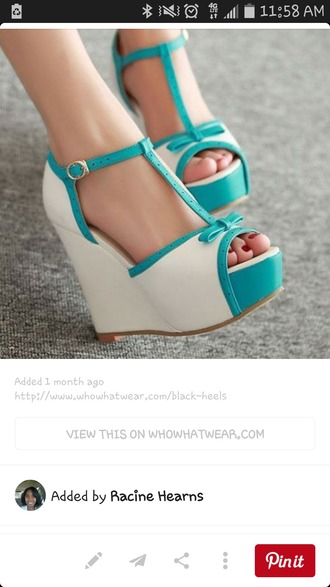 shoes cream teal t-strap