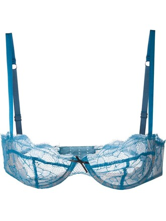 bra lace blue underwear