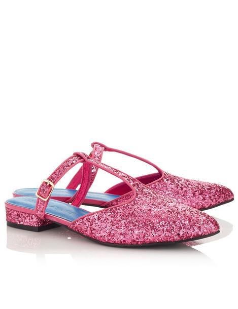 macgraw glitter flats pink