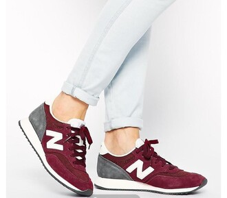 shoes burgundy new balance mesh sneakers all red wishlist burgundy shoes