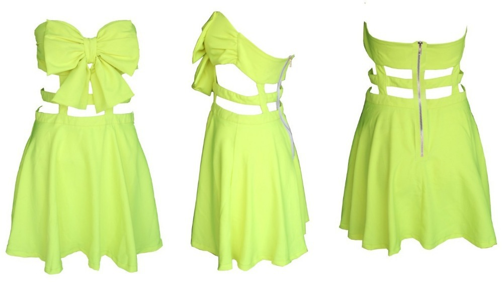 Free shiping Fashion BOW CAGE DRESS  party dress Back hollow dress 187-in Apparel & Accessories on Aliexpress.com