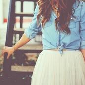 skirt,mini skirt,denim shirt,shirt,vintage,emma watson,white,nude,blue,flowy,short skirt