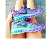 shoes,nike flyknit,nike,nike air,air max,purple and blue,nike shoes