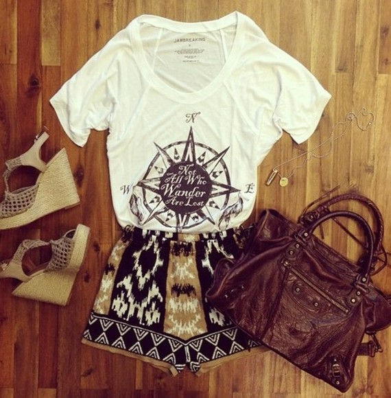 shorts aztec aztec short jawbreaking tops tank top shoes bag shirt summer