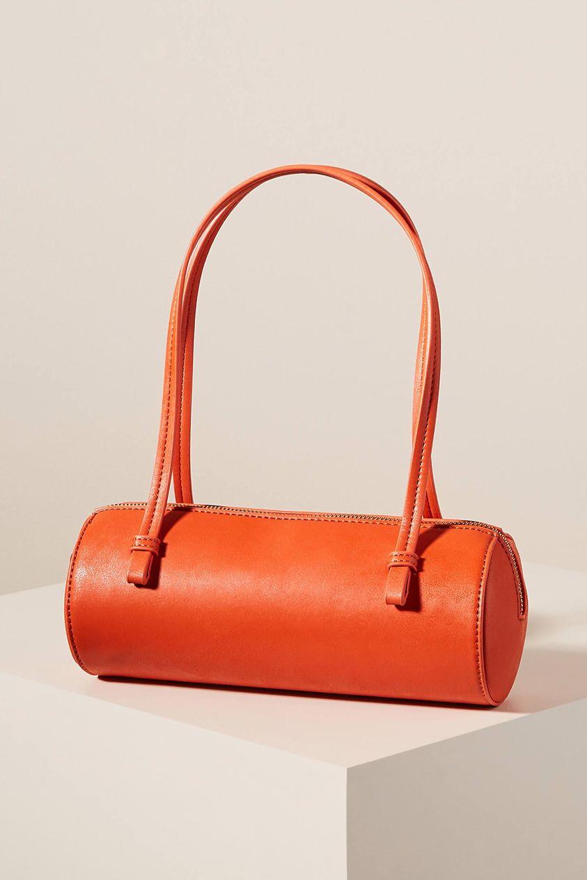 Sadie Mini Tote Bag by Anthropologie in Red