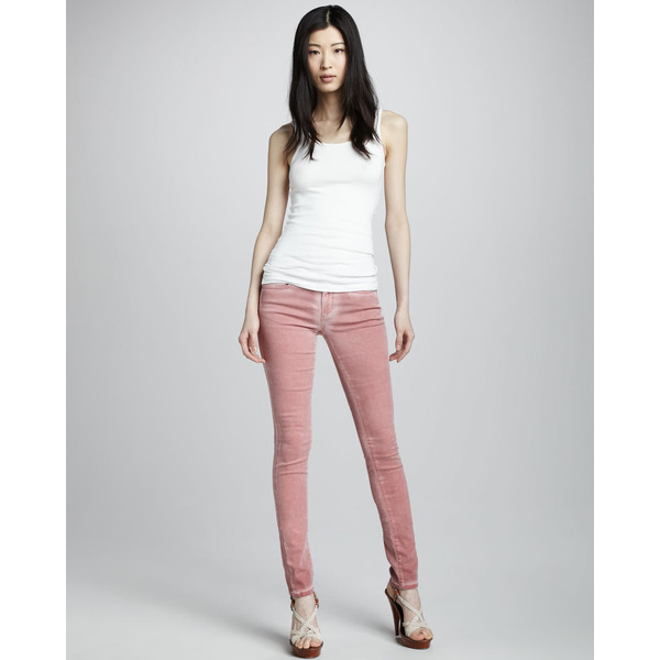 Joe's Jeans The Skinny Distressed Rose Jeans - Polyvore