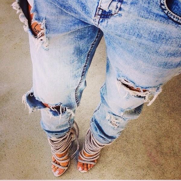 shoes heels jeans