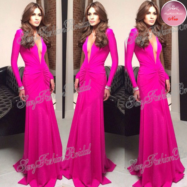 Aliexpress.com : Buy 2013 Hot Sell V neck Accented Long Sleeve Lace Mermaid Floor length Zuhair Murad Dress Evening Dresses from Reliable dress sleeves suppliers on sexyfashionbridal