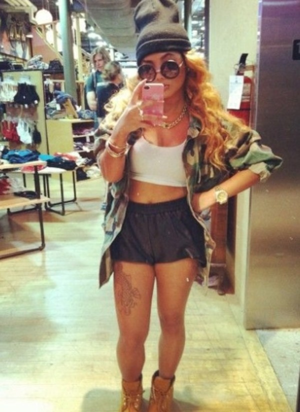 shorts cute shorts jacket blouse sunglasses