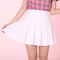 Glitters for dinner — made to order -white cheer mini skirt