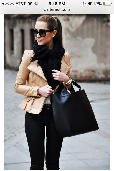 black scarf jacket