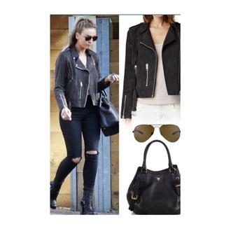 jacket black leather biker jacket warm
