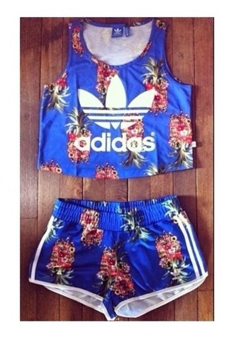 shorts adidas co ord top crop tops crop tank two-piece crop tank top