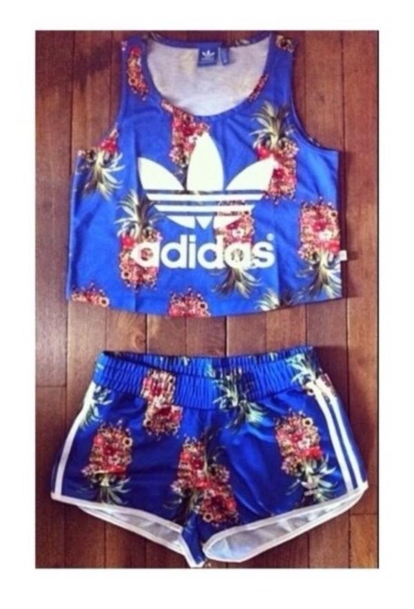 shorts adidas co ord top crop tops crop tank two-piece crop crop tops tank top