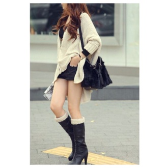 cardigan cute knitted cardigan beige coat sweater fall outfits fashion kawaii girly clothes