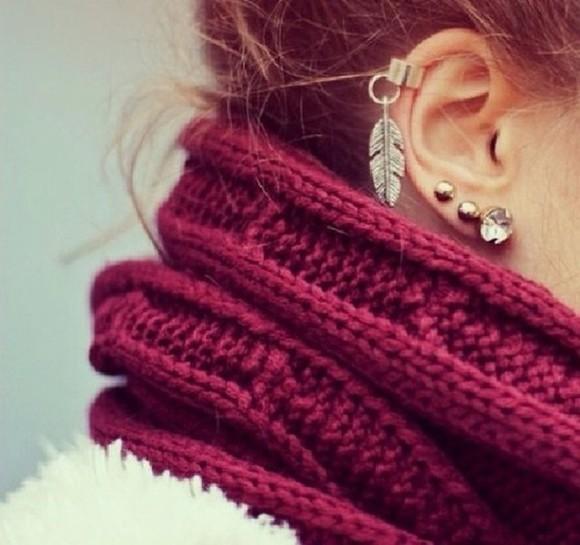 jewels plume scarf