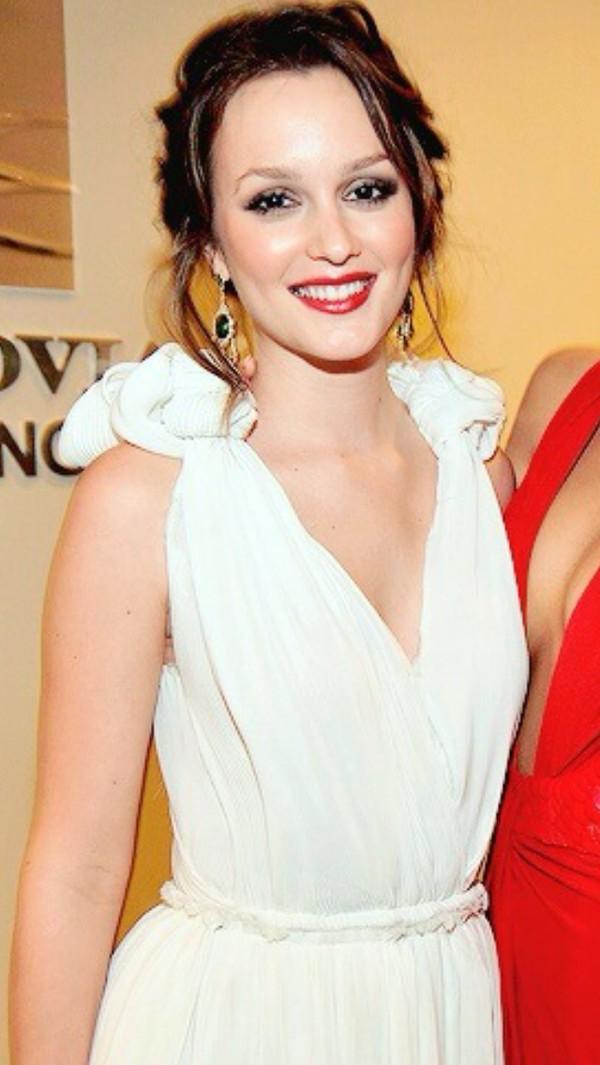 Dress Leighton Meester Blair Waldorf White White Dress Formal