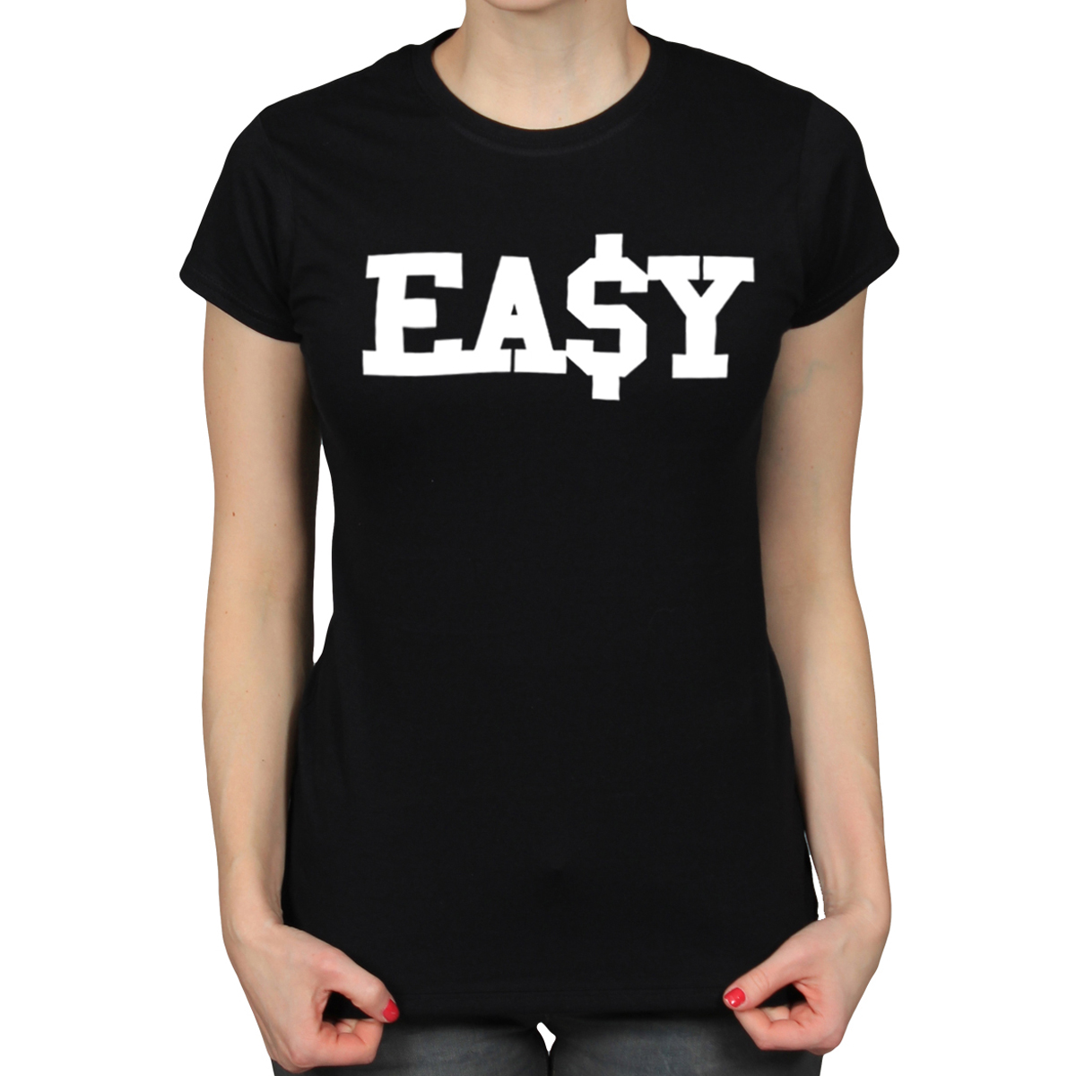 EASY DOLLAR COLLEGE SWAG URBAN RAP HIP HOP LADIES BLACK T-SHIRT GIRLS TEE [331] | eBay
