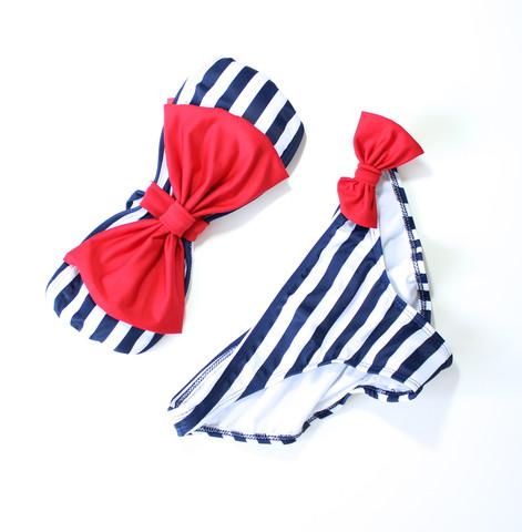 Mint bow bikini