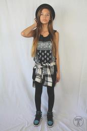 shirt,amanda steele,youtube,makeupbymandy24,flannel shirt,black,top,youtuber,leggings,shoes,pants,skirt,t-shirt