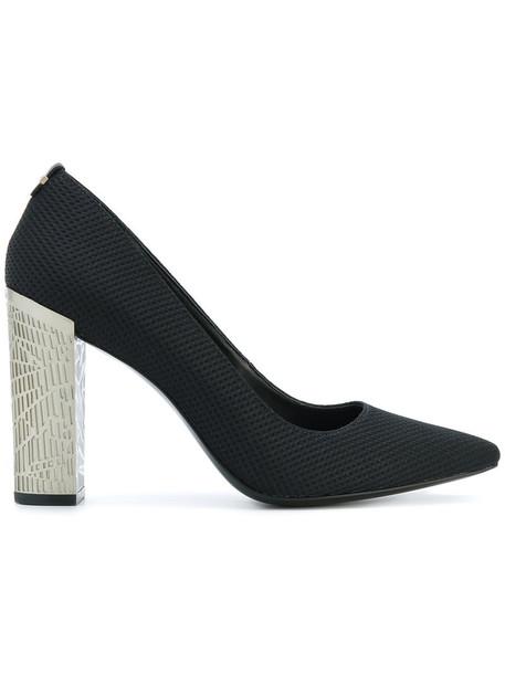 Calvin Klein heel women pumps leather black shoes