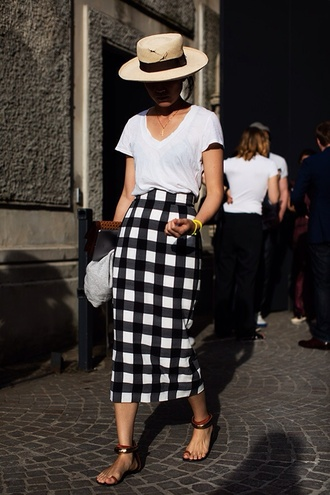 skirt plaid skirt black skirt white skirt midi skirt pencil skirt fitted skirt see shop eat do blogger top shirt dress shoes swimwear check checkered women tartan skirt checkered skirt check skirt tube skirt