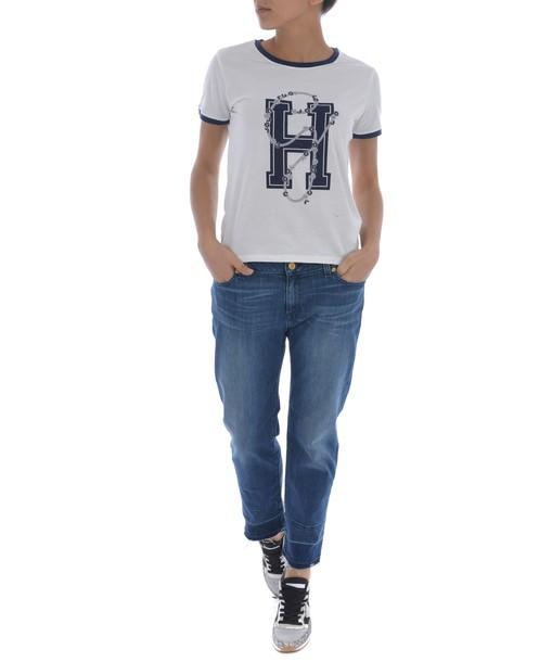 Tommy X GiGi HADID t-shirt shirt printed t-shirt t-shirt top