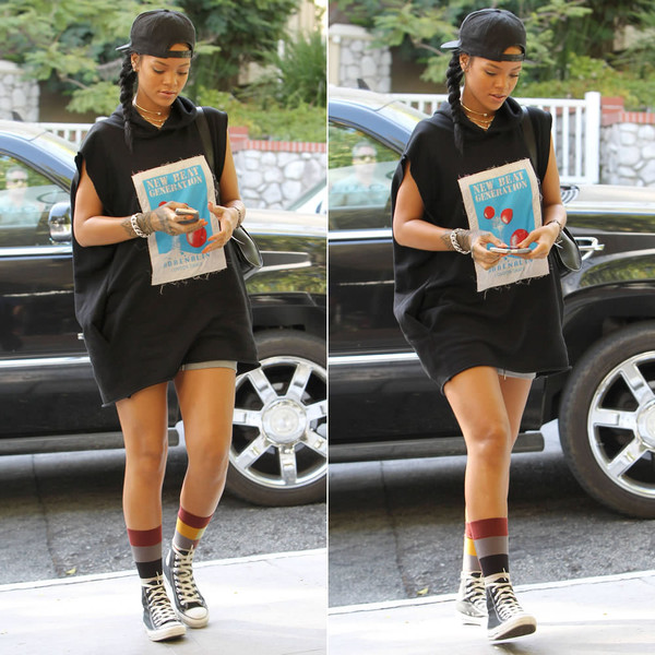 socks sneakers rihanna top