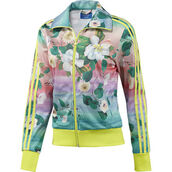 jacket,adidasfarm,farm,floral,floral jacket,neon,adidas,adidas originals,track jacket,neon yellow,neon adidas tracksuit