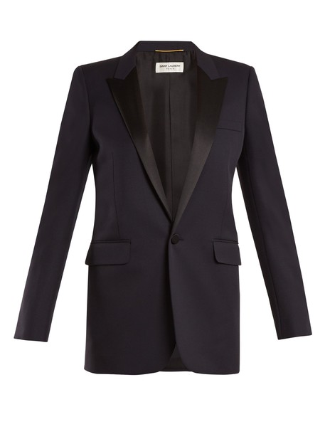 Saint Laurent blazer wool navy jacket