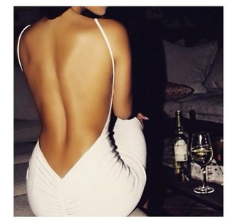 dress white dress open back dresses