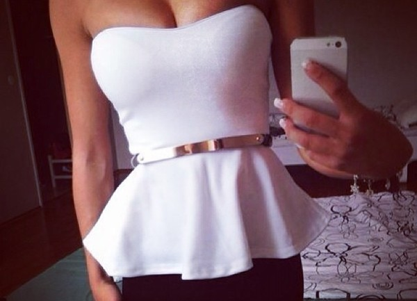 tank top girly fashion white