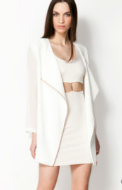 jacket,blazer,oversized,white dress,pretty,classy