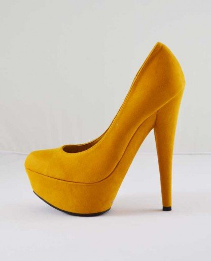 Trendy Clothing, Fashion Shoes, Women Accessories | Anne Michelle Topgun 01 Mustard Pointy Toe Pump  | LoveShoppingMiami.com