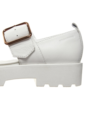 Vagabond | Vagabond Aurora Two Part White Leather Flat Shoes at ASOS
