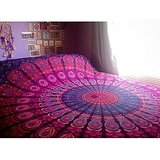 Amazon.com - Hippie Tapestry, Hippy Mandala Bohemian Tapestries, Indian Dorm Decor, Psychedelic Tapestry Wall Hanging Ethnic Decorative (Multi Color) -