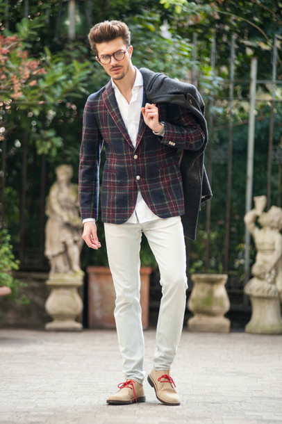 Jacket: gian maria sainato, blogger, mens blazer, mens chino pants ...