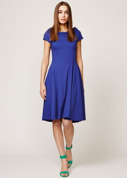 boat neck dress blue blue dress teresa dress in blue cap sleeve dress