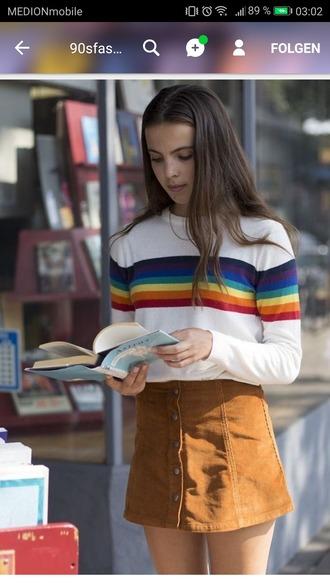 sweater rainbow 90s style pullover vintage