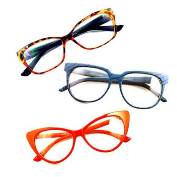 cat eye sunglasses glasses orange