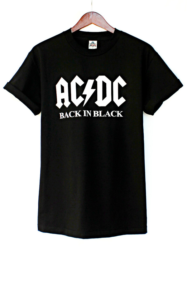 t-shirt acdc back to black justvu.com band t-shirt clothes mens t-shirt 70s style hard rock rock