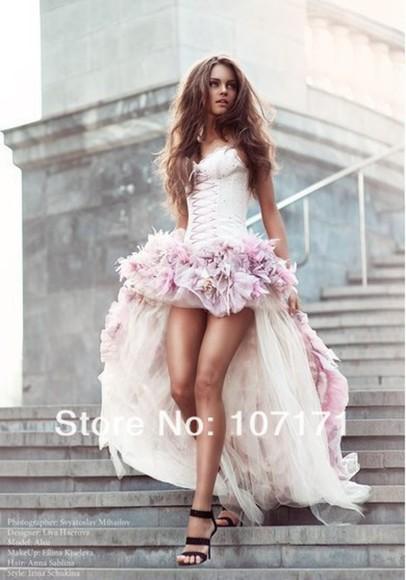 dress prom dress pink cute dress