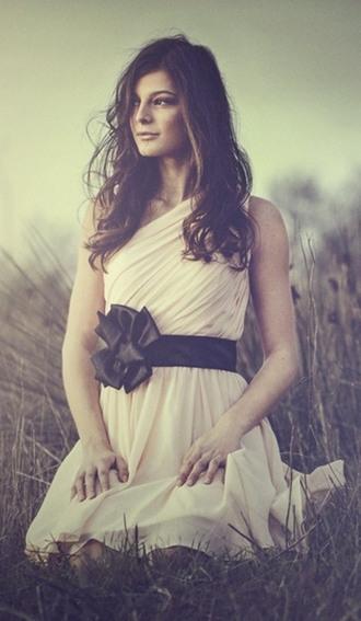 dress clothes bow black skirt mesh pink top oneshoulder dress wedding dress fashion